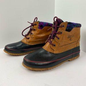 vintage bass fleece lined duck boots